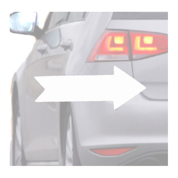 Sticker for car white Arrow