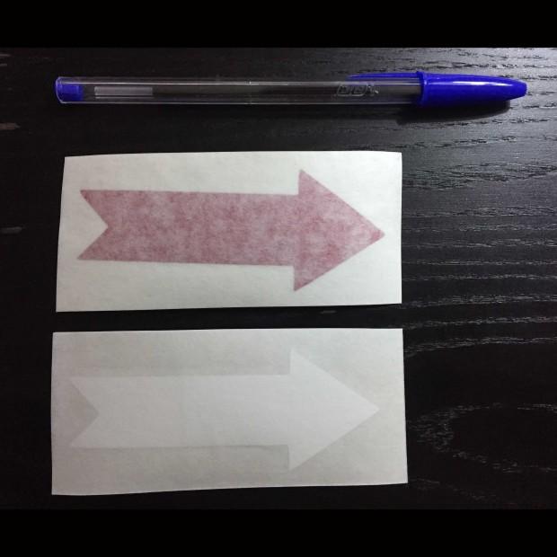 Sticker for car white Arrow