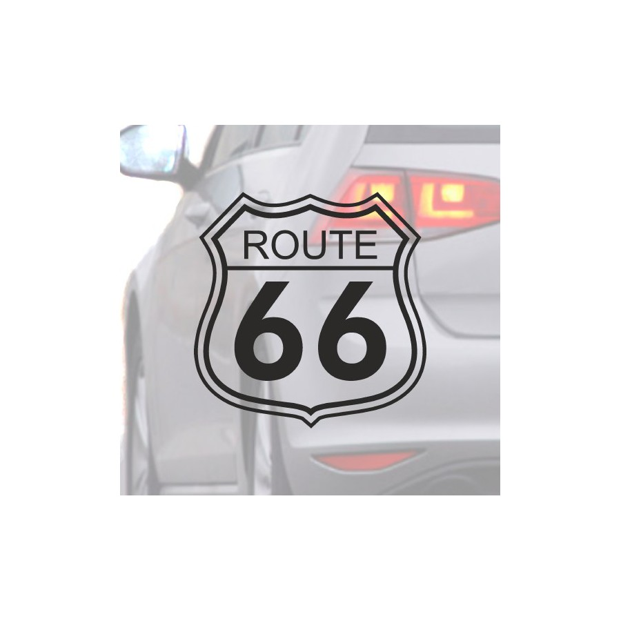 Sticker for car Route 66 black