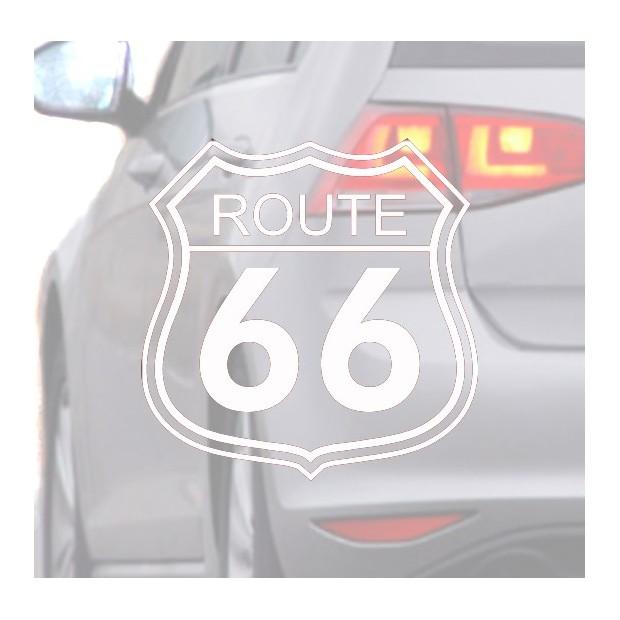 Aufkleber für auto Route 66 weiße