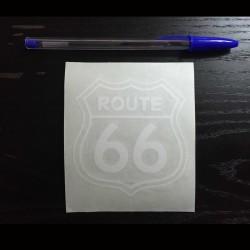 Adesivo per auto Route 66 bianco