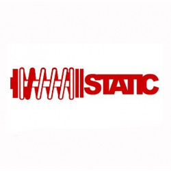 Sticker, car Static red