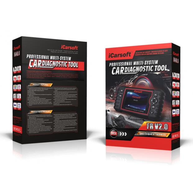 Máquina de Diagnóstico Icarsoft FR V2.0 versão 2019