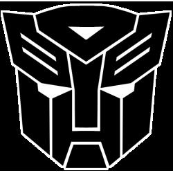 Adesivo per auto Transformers Autobot nero