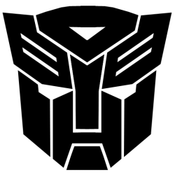 Pegatina para coche Autobots Transformers negra