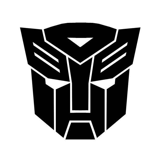 Autocollant pour voiture de Autobots Transformers noir