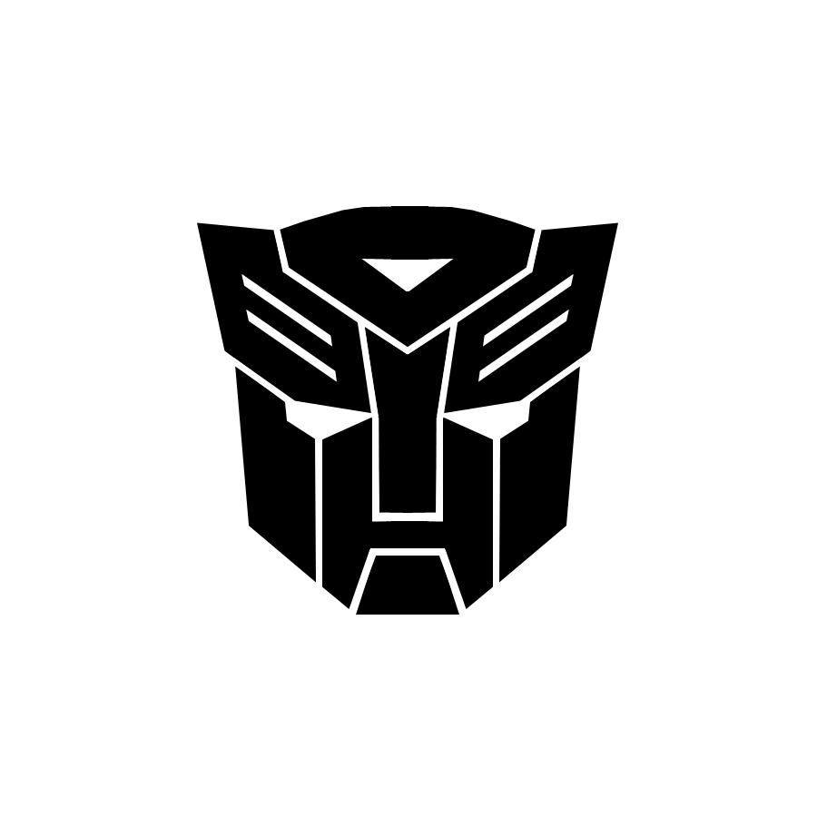 Sticker for car Autobots Transformers black