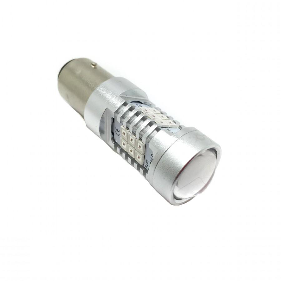 Ampoule LED P21/5W Rouge Canbus (Deux Pôles) - TYPE 78