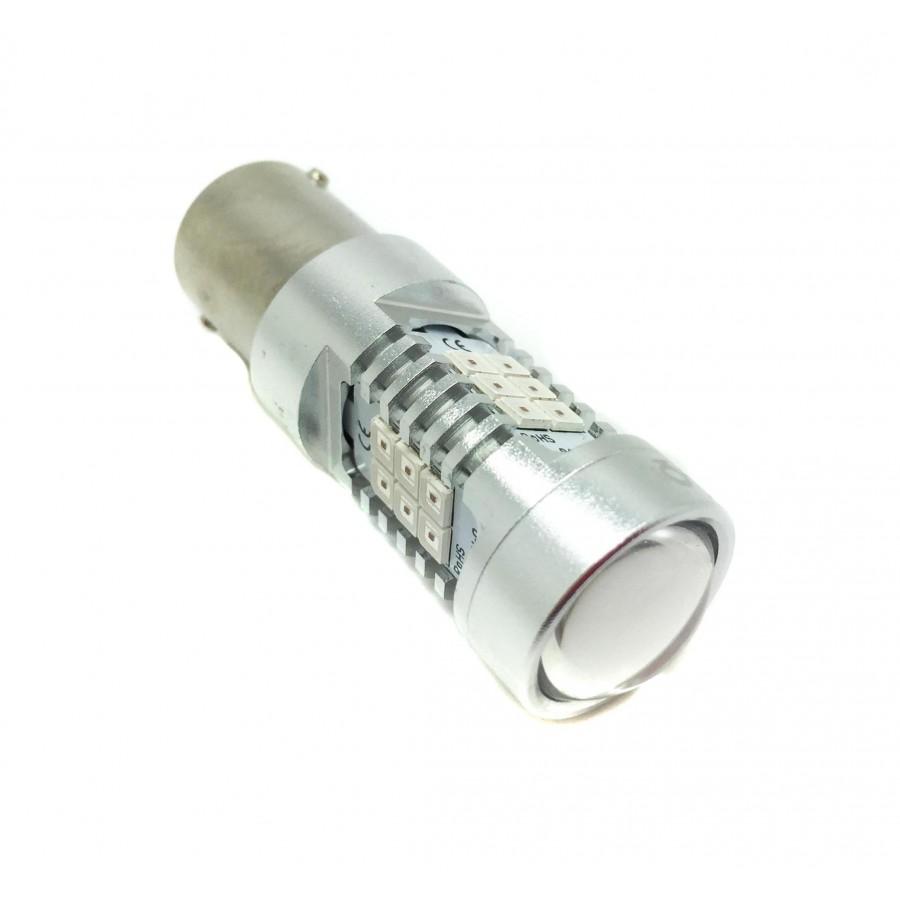 Bulbo claro do diodo EMISSOR de luz P21W Vermelha Canbus - TIPO 76