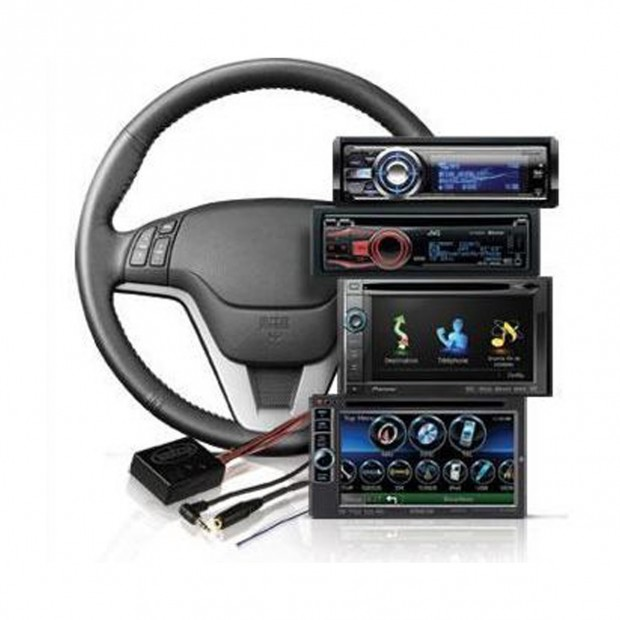 Interface for hands of steering wheel Peugeot and Citroen can-bus and ISO connector
