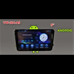 """Radio Navegador GPS 9"""" Volkswagen Android - Corvy"""