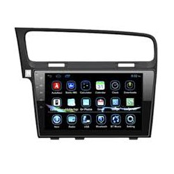 "Radio Navegador GPS Volkswagen Golf 7 10""  - Corvy"