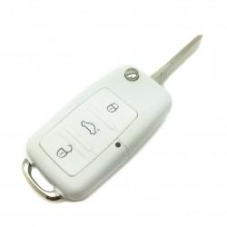 Le logement de clé Volkswagen Blanc 3 boutons (1997-2009)
