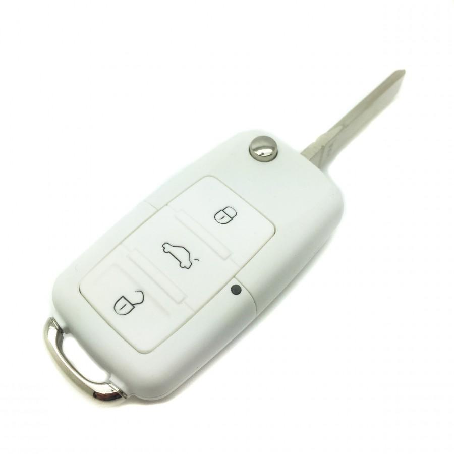 Carcasa llave Volkswagen Blanca 3 botones (1997-2009)