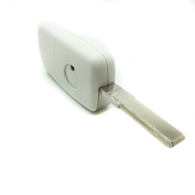 Carcaça chave Volkswagen Branca 3 botões (1997-2009)