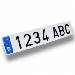 Matrícula acrílica barata homologada para coche (tamaño estándar)