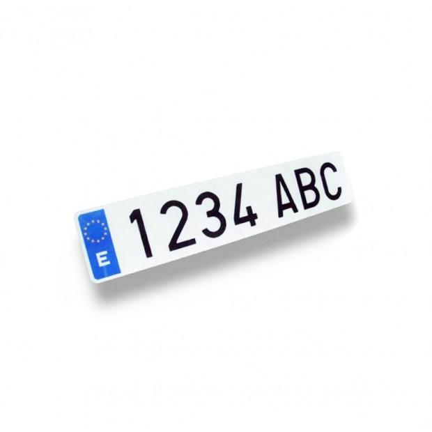 Matrícula acrílica barata homologada para coche (tamaño pequeño)
