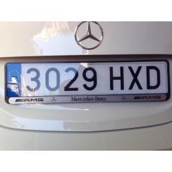Matrícula acrílica homologada para coche