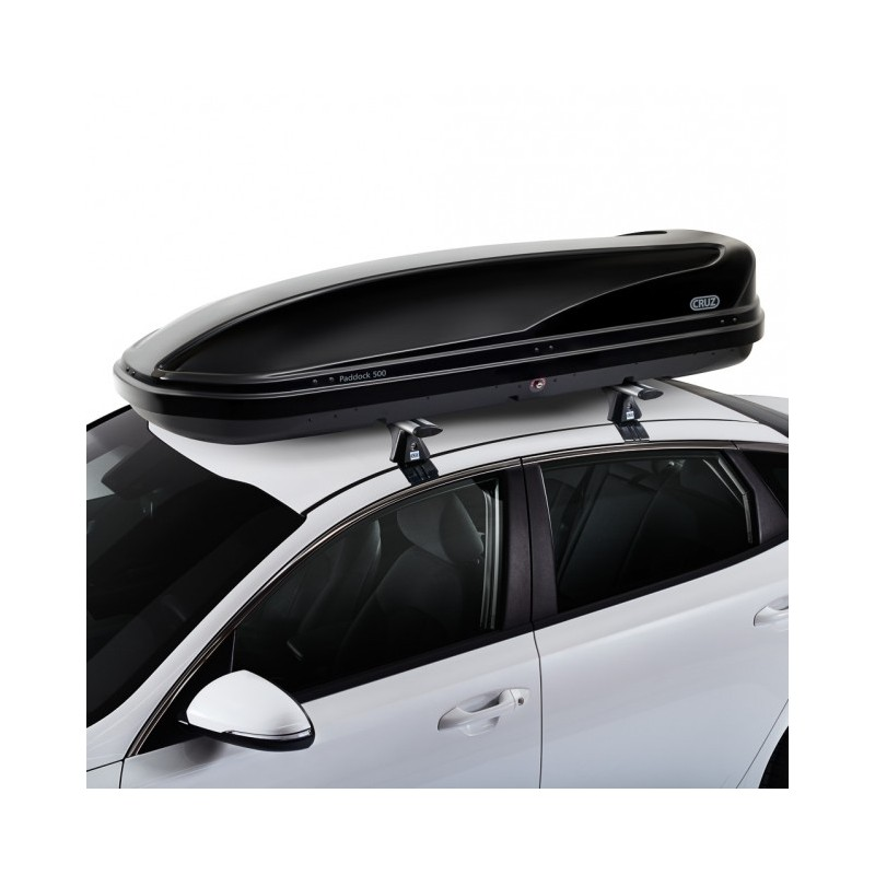 Bagageiro de teto Cruz Paddock 500 litros - esportivo e elegante