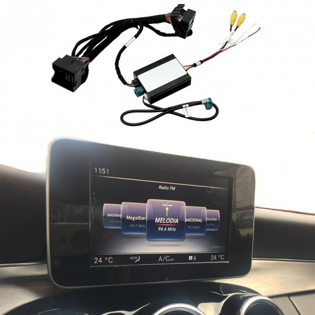 Kit, interface camera parking Mercedes-Benz C-Class (W205/C205/S205) (10/2014-06/2018) NTG 5/5.1