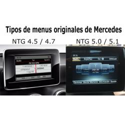 Kit interface câmera de estacionamento Mercedes-Benz GLA (X156) (10/2013-09/2015) na embalagem original 4.5/4.7