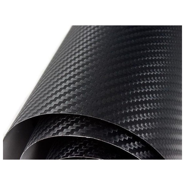 Vinil Fibra de Carbono Preto Normal 50x152cm