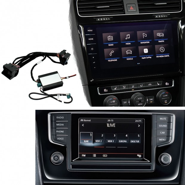 Kit d'interface de la caméra de stationnement Volkswagen Tiguan 2(AD1) (2016), MIB/MIB2