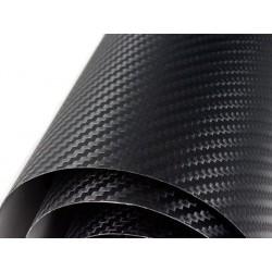 Vinil de fibra de carbono preto normal 25x152cm