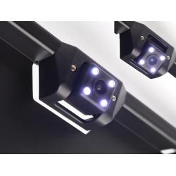 Rear camera with portamatrículas and LED lights integrated