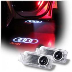 Diodo EMISSOR de luz de portas com logotipo da AUDI - Logo Laser diodo EMISSOR de luz Audi