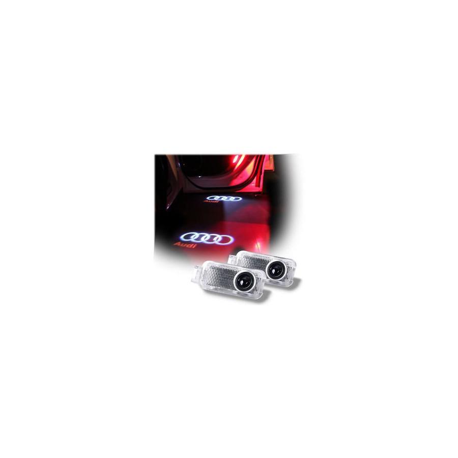 Painéis LED de portas com logotipo da AUDI - Logo Laser diodo EMISSOR de luz Audi