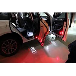 Soffit LED door logo AUDI - Logo Laser LED Audi