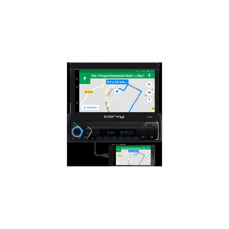 "Radio 1 din 7"" touch-screen. Mit deckblatt, abnehmbare und motorisierte projektionswand. Betriebssystem WinCE"