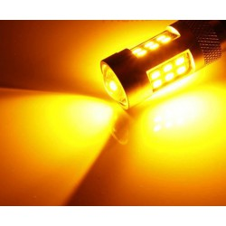 Die LED-glühlampe P21W Gelb Canbus - TYP 77