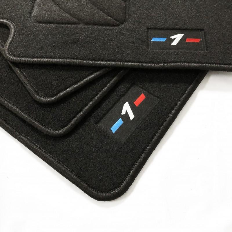 Noir tapis de voiture avec cœur rose talon pad pour bmw E48 E81 E87 1 2 série X3 X5
