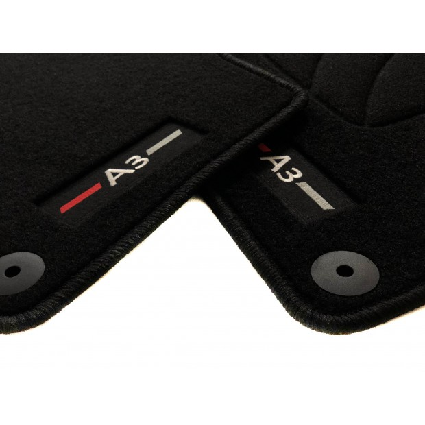 Precision Tailor Fitted Car Mats for /Àudi A3 Sportback 2004-2012 Black Classic Carpet with Purple Check PN.SFP-SSX145PPCH