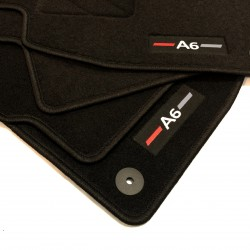 Floor mats for AUDI A6 C6 finish Sportline (2004-2007)