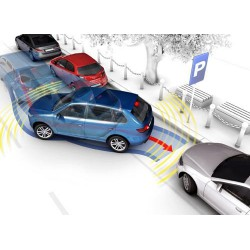 Quatro sensores de estacionamento