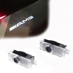 LED de puertas con logo Mercedes