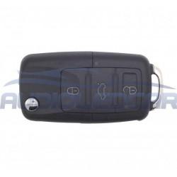 Logement pour clé Volkswagen 3 boutons (1997-2009)