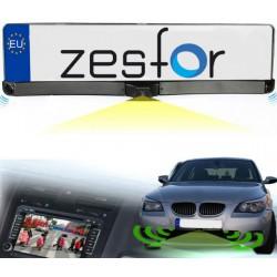 Portamatrículas con Sensori e Telecamera di Parcheggio