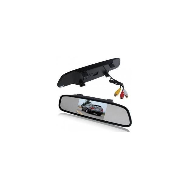Suporte da placa com sensores de estacionamento e câmera