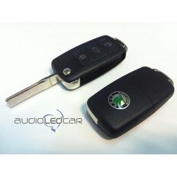 Logement pour clé Skoda 3 boutons