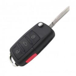 Alloggiamento per chiave Skoda con pulsante di PANICO