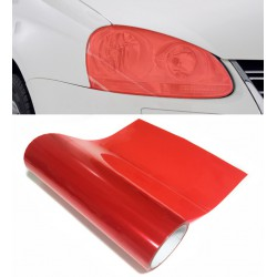 red vinyl headlights