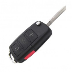 Alloggiamento per chiave Volkswagen con pulsante di PANICO