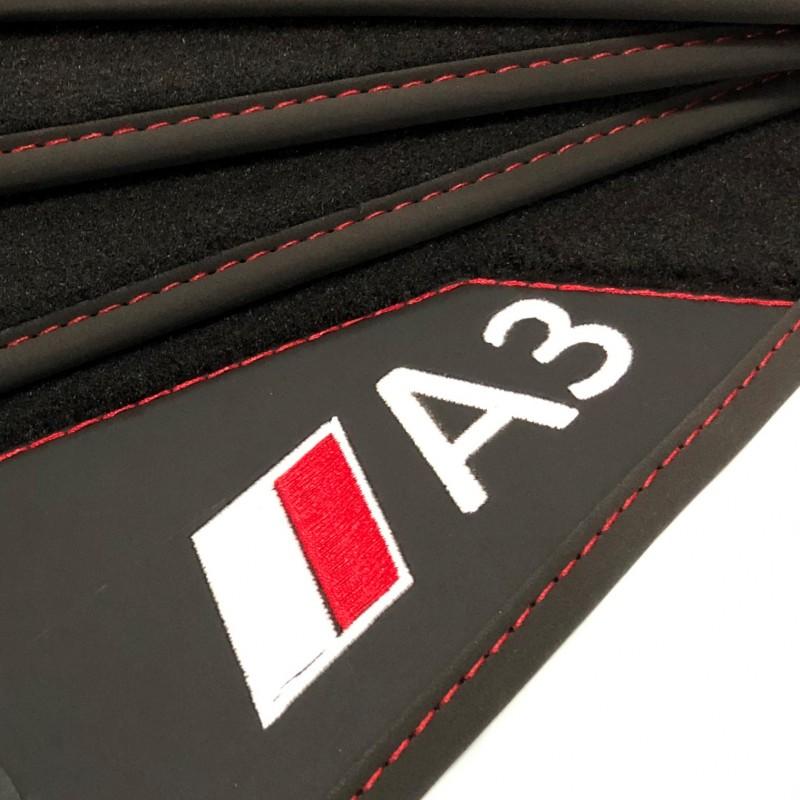 Floor mats, Leather-Audi A3 8L (1996-2003) - AUDIOLEDCAR