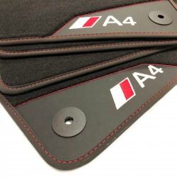 Os tapetes de couro Audi A4...