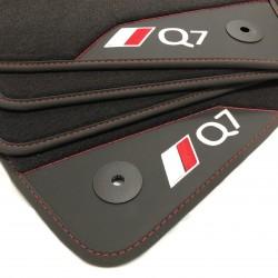 Os tapetes de couro Audi Q7...