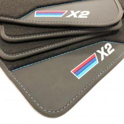 Os tapetes de couro BMW X2...